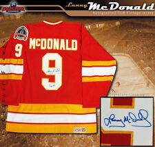 LANNY McDONALD Signed & Inscribed Calgary Flames CCM 1989 Stanley Cup Jersey