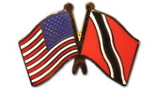 Trinidad & Tobago Friendship with US Flag Lapel Pin