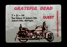 Grateful Dead Backstage Pass Motorcycle Harley Davidson Michigan 7/31/1994 MI US
