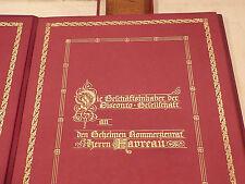 MAPPE GESCHÄFTSINHABER DISCONTO GESELLSCHAFT an Hr.Favreau Kommerzienrat 1915