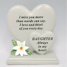 Daughter Double heart shape Grave Ornament in loving memory  Memorial