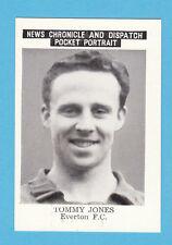 FOOTBALL - NEWS  CHRONICLE - FOOTBALLER CARD  -  JONES  OF  EVERTON  - 1955