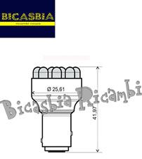 10395 - LAMPADINA BLU DOPPIA INTENSITA' 12V 12 LED bay15d