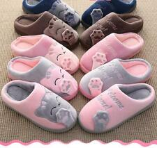 Women Winter Home Slippers Cartoon Cat Shoes Non slip Soft  Warm House Slipper