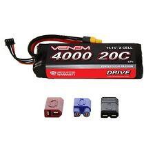 Venom 20C 3S 4000mAh 11.1V RC LiPo Battery with Deans EC3 Traxxas Tamiya Plug