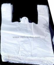 "Quality White Plastic Vest Carrier Bags PLUTO Supermarket Style 10""x15""x18"", 786"