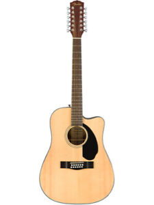 Fender CD-60SCE 12 String Natural Solid Top Acoustic-Electric Guitar - New