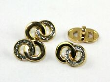 Wedding Ring Buttons - Gold & Silver