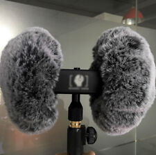 ASMR Wind Shield for 3DIO HeadRec Free Space Binaural Mic Outdoor Fur Windscreen