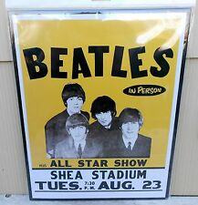 THE BEATLES SHEA STADIUM CONCERT AUG 23 ALL STAR SHOW TIN SIGN NEW 14 X 11 TREND
