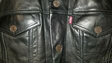 NWT Levi's Buffalo Leather Trucker Jacket Medium Sold Out Retail $398