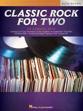 Classic Rock for Two Alto Saxes Easy Instrumental Duets Book New 000303028