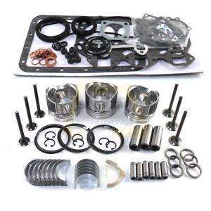 3TNA72 3TNA72E 3TNA72L 3TNA72UJ Engine Rebuild Kit& Water Pump For Yanmar SK15SR