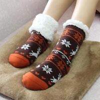 Ladies Thicken Thermal Fleece Socks Sherpa Lining Lounge Slipper Floor Bed Socks