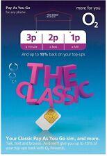 O2 Sim Card - New and Sealed Classic O2 Pay As You Go 02 O2 PAYG SIM !