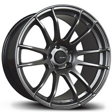 Avid1 AV20 Rims 18x8.5 +33 5x114.3 Hyper Black Accord Lancer Mazda 3 Sonata TSX