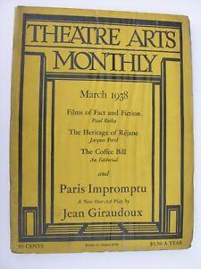 THEATRE ARTS MONTHLY Mar 1938 Gabrielle Réjane Jean Giraudoux Impromptu de Paris