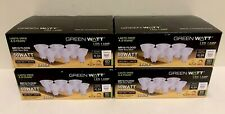 24 Green Watt LED Light Bulbs GU10 50W Equiv. Dimmable Warm White Flood MR16
