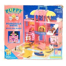 1994 Hasbro PUPPY IN MY POCKET PUPPYVILLE HOTEL Play Set + Box