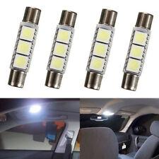 4x HID 5050 3-SMD 31mm 6641 Fuse LED Bulbs Vanity Mirror Light Sun Visor Lamp