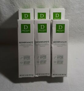 6 Rembrandt Fluoride Toothpaste Deeply White +Peroxide Peppermint Exp.09/2021