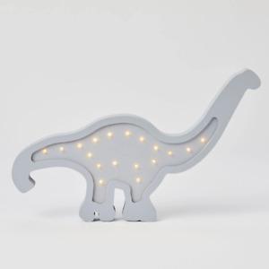 Brontosaurus Grey Wooden Light by Pilbeam Living