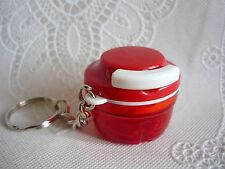 Porte clés Tupperware (keychain) Mini Turbo Tup / Turbo Chef rouge miniature