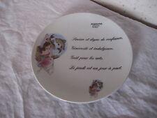 Assiette déco en porcelaine signe astrologique Poissons