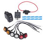 UTV ATV LED Turn Signal Street Legal Kit For Polaris RZR XP Ranger Sportsman