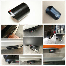 1Pcs Glossy Black Carbon Fiber 3'' Car Exhaust Muffler Tip Pipe Decorative Cover