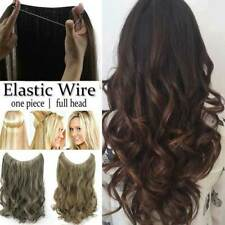 100% Human Hair Secret Headband Wire/Halo Remy Extension Invisible One Piece 80g