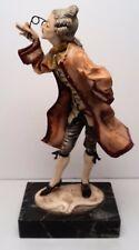 Fontanini Victorian Figurine Statue Man with Carrara Marble Base