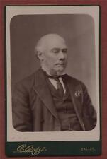 Exeter. Owen Angel. 'F.W.H.' Old Gentleman. cabinet   photograph qd207