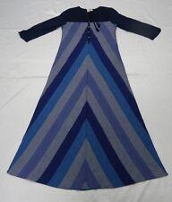 Roxy Shallow Waters Blue Woman Long Sleeve Shirt Dress Size Small