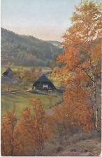 alte AK Partie bei Hornberg 1915, Herbststimmung im Schwarzwald