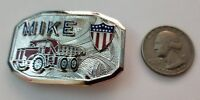 "Hook Fast "" Mike "" with a Dump Truck Belt Buckle"