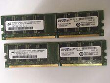 2GB (2X1GB ) DDR 333MHZ PC 2700U 184pin DIMM Non-ECC Memory Ram Desktop