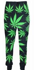 Rare Unisex 3D Weed Print Retro Hip-Hop Flow Trendy Chill Loose Joggers Bnwt Hot