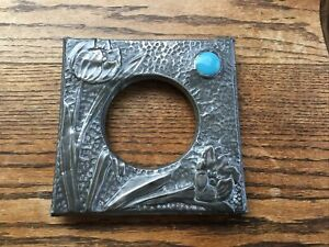 Beautiful Original Arts & Crafts Pewter Photo Frame Front - Ruskin?