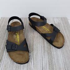 Birkenstock Rio Black Birko-Flor Sporty Sandals Womens Size 41 US 10 10.5