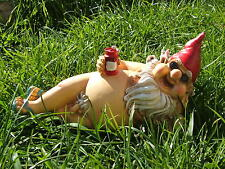 LATEX MOULD MOULDS MOLD..   MR GNOME SUNBATHING WITH BEER