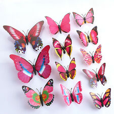 12Pc/Set 3D DIY Butterfly Wall Sticker Butterfly Home Decor Room Stickers