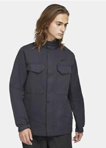 Nike Sportswear NSW Mens M65 Woven Full-Zip Jacket Size Large Black M Medium 100