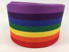 """BTY 3"""" Rainbow Pride Grosgrain Ribbon Hair Bows Scrapbooking Lisa"""