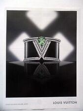 PUBLICITE-ADVERTISING :  LOUIS VUITTON Collection Haute Joaillerie Acte V  2014