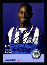 Nando Rafael Autogrammkarte Hertha BSC 2002-03 Original Signiert + A 184041