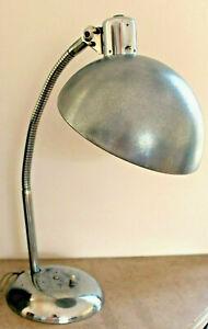Lampe  chromée, flexible ,bureau usine loft, atelier NO COPY