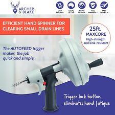 Ridgid - Kwik-Spin Plumbing 7.5m Hand Spinning Snake Drain Cleaner 41348