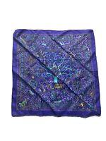 hermes peuple du vent Silk Scarf. 15.5 InchesX15.5 Inches