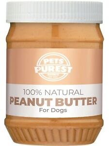 Pets Purest 100% Natural Peanut Butter For Dogs No Added Sugar, Salt or Xylitol